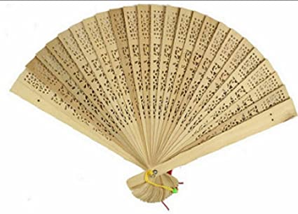 Amazon Set Of 2 Foldable Wooden Hand Fans Birthday Party