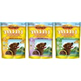 Zuke's Mini Naturals Healthy Moist Dog Training Treats 3 Flavor Variety Bundle 6 Oz. Ea