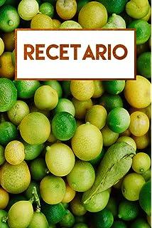 Recetario: Libro de recetas en blanco, libreta a rayas (Spanish Edition)