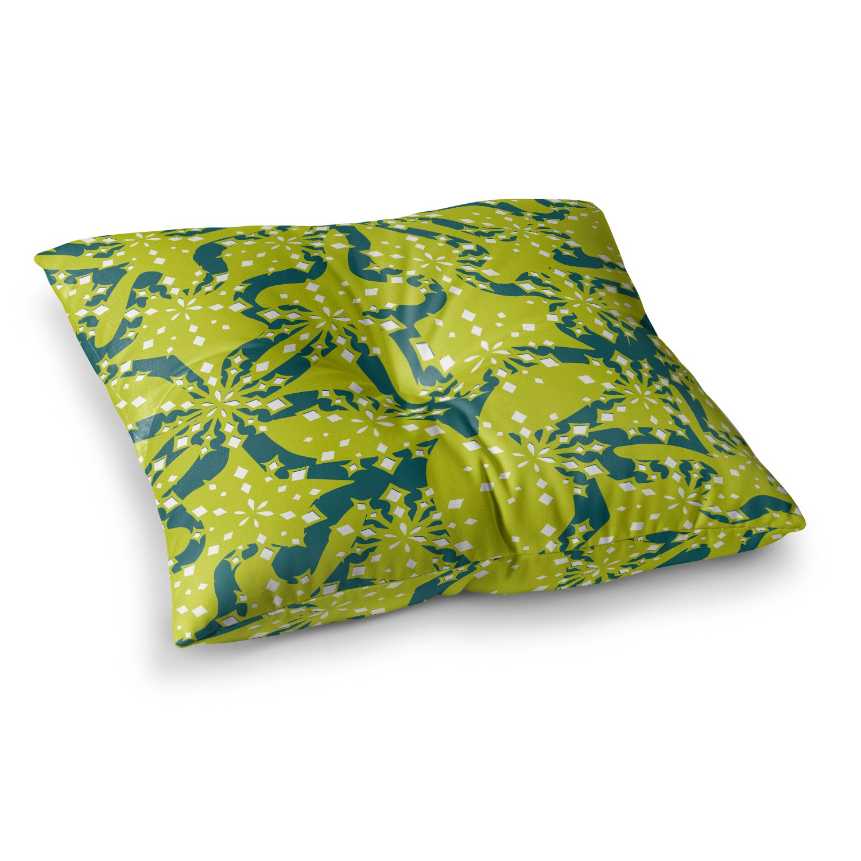 26 x 26 Square Floor Pillow Kess InHouse Miranda MOL Festive Splash