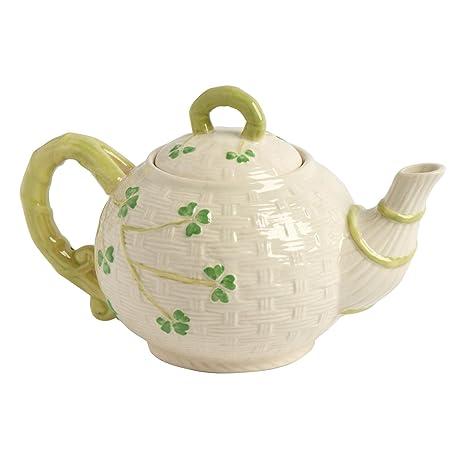 Celtic Classics Traditional Basket Weave Shamrocks Irish Design Teapot 44-oz White  sc 1 st  Amazon.com & Amazon.com | Celtic Classics Traditional Basket Weave Shamrocks ...