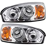 Driver and Passenger Headlights Headlamps Replacement for Chevrolet 15851373 15851372