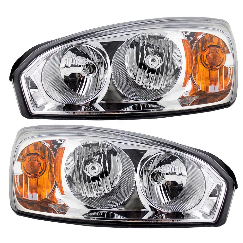 Malibu 2005 chevy malibu headlight bulb : Amazon.com: Driver and Passenger Headlights Headlamps Replacement ...