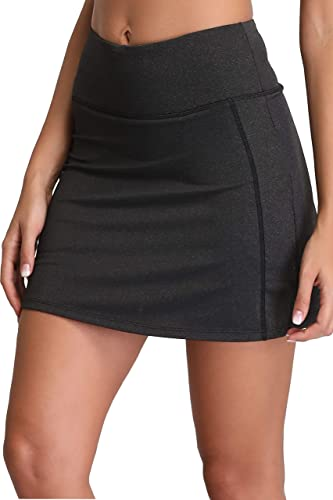 Women's Active Athletic Skirt Sports Golf Tennis Running Pockets Skort Heather XS