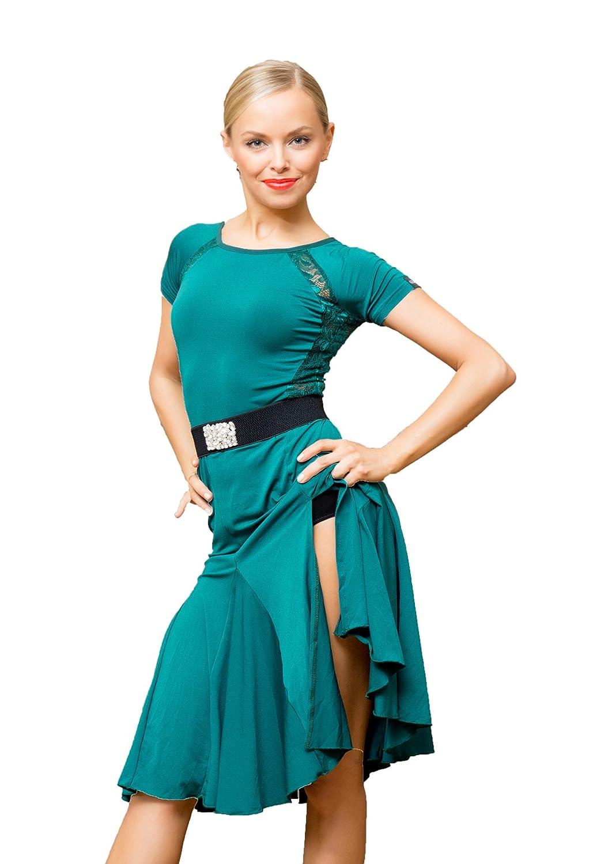 SCGGINTTANZ Serie Superstar:G3044 latino Moderna ballo da Danza professionale il vestito di pizzo collegato lati swing design swing Per Donna GloriaDance