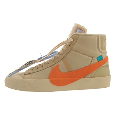 sale retailer 659b8 aa373 NIKE Mens The 10 Blazer Mid All Hallows Eve CanvasTotal-Orange Leather Size