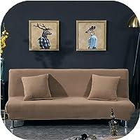 Happy Towns Plüsch Sofa Bettüberwurf Voller All-Inclusive Bezug für Sofa Bett ohne Armlehne Sofa Bettbezüge für Klappsofa Bett Sofa Sofa Bezug