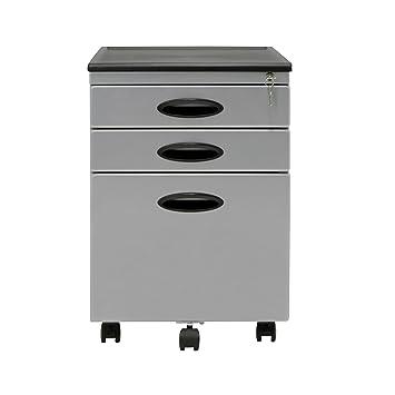 calico designs file cabinet in silver