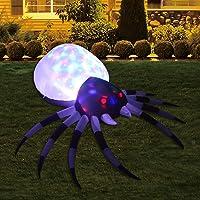 GOOSH 6 Foot Inflatables Halloween Spider with Magic Light for Halloween Yard Decor Indoor/Outdoor Decorations (6 Foot…