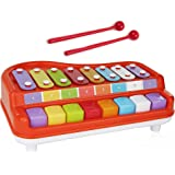 Toysery 2 in 1 Piano Xylophone Kids Toy, Educational Toddler Musical Instruments ToySet, 8 Multicolored Key Scales in…