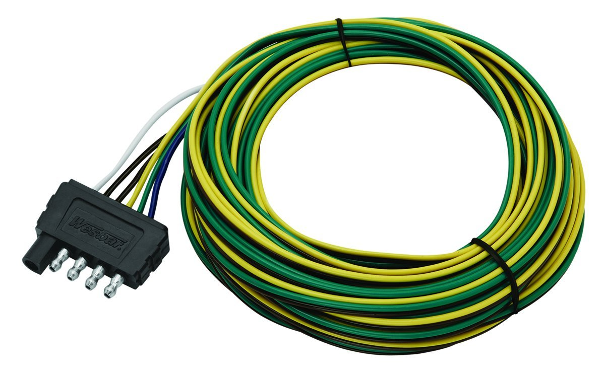 71p3ftuoLrL._SL1200_ amazon com wesbar 5 way flat trailer connector wishbone harness 5 way flat trailer wiring diagram at webbmarketing.co