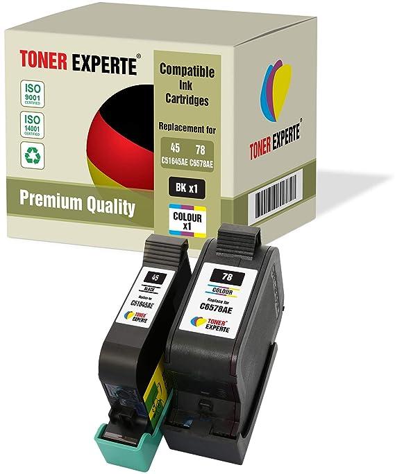 TONER EXPERTE® Reemplazo para HP 45 78 2 Cartuchos de Tinta ...