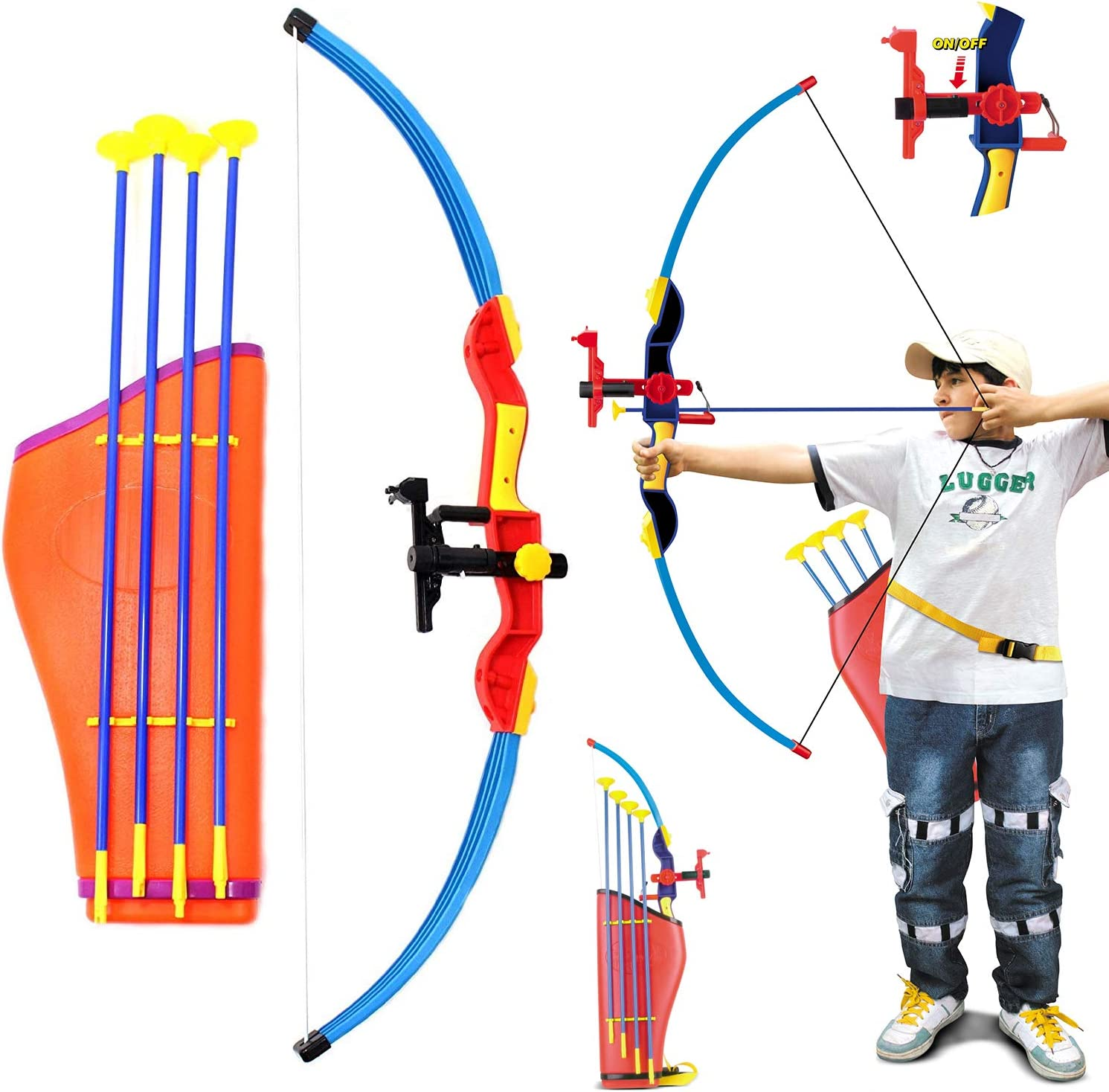 recognized brands ever popular super quality Liberty Imports Deluxe Kids Large Toy Archery Bow and Arrow Set with  Suction Cup Arrows and Quiver (32-Inches)