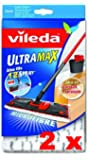 LOT DE 2 Recharges Vileda Ultramax / 1-2 Spray Replacement Microfibre Pad