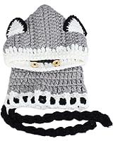 Vovotrade® Inverno a maglia di lana Berretti Fox Cappelli neonate scialli con cappuccio Cowl Beanie (Grigio)