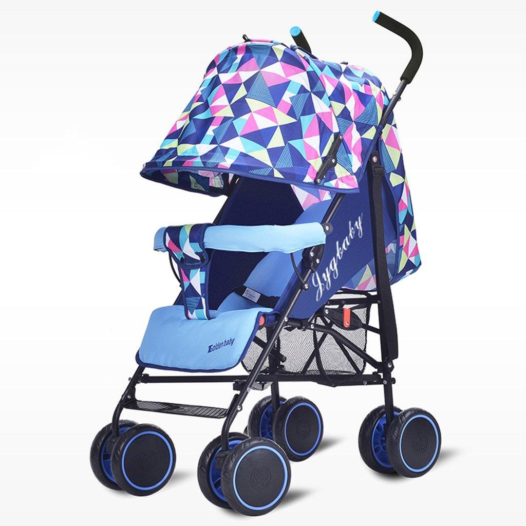 HAIZHEN マウンテンバイク ベイビーカート超軽量ポータブルシット/折りたたみ式子供用トロリー寝具セットサンシェード日除けアンチUVベイビーキャリッジ 新生児 B07DL94871 1 1