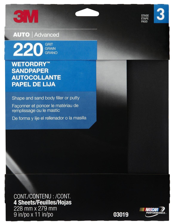 3M 03019 Wetordry 9' x 11' P220 Grit Sandpaper