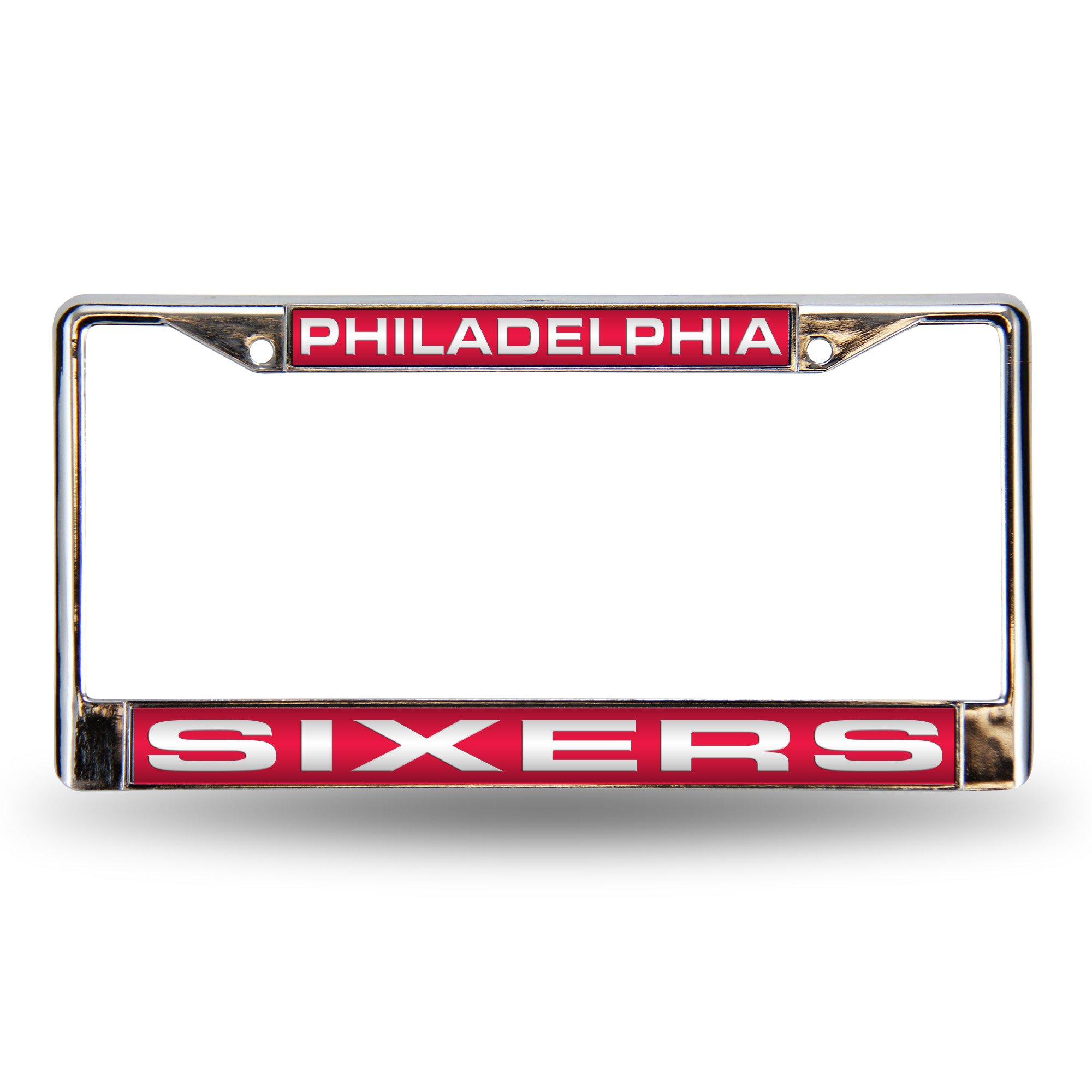 Rico Philadelphia 76Ers Official NBA License Plate Frame Laser by 663551