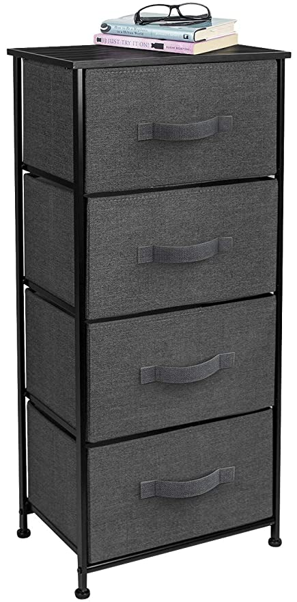 Amazon Com Sorbus Nightstand Chest With 4 Drawers Bedside