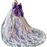 OurKosmos® Splendida partito Handmade abito Vestiti & abiti da sposa accessori bambola Doll-1PCS (viola)
