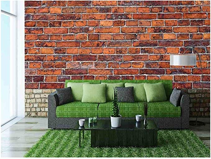 "Wall26 - Abstract Red Brick Wall Background - Canvas Art Wall Decor - 100""x144"" - - Amazon.com"