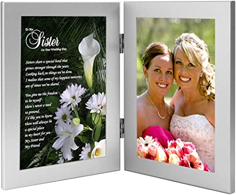 Amazon Com Poetry Gifts Wedding Gift For Bride Sister Bridal Shower Or Wedding Gift Add Photo