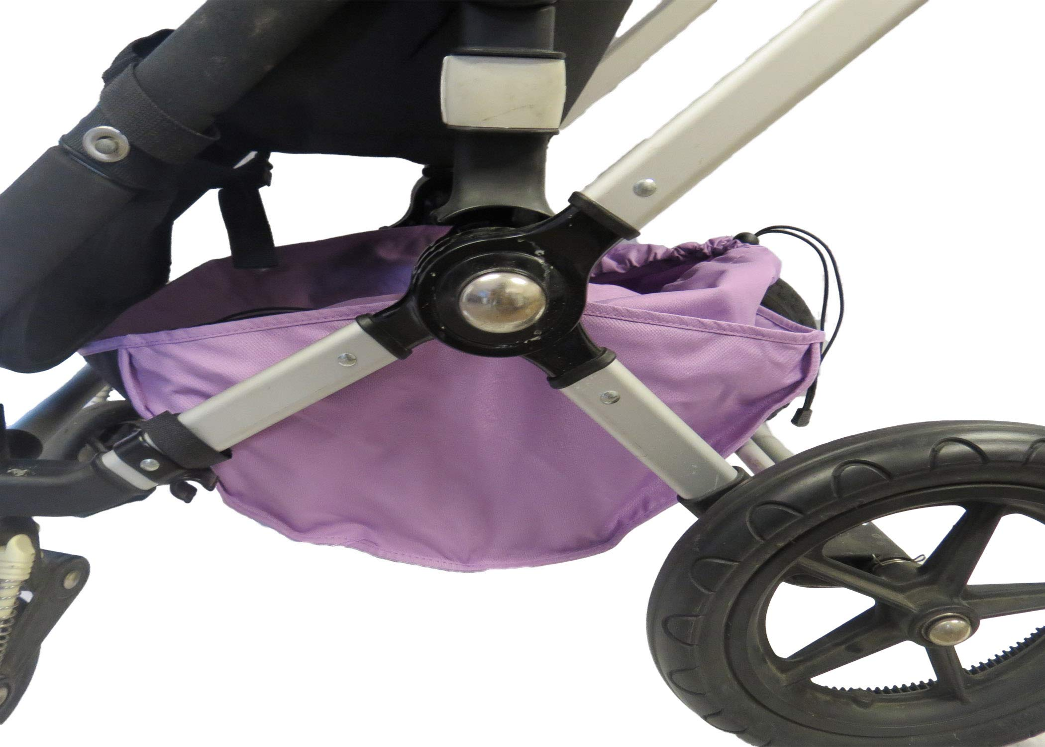 Light Purple Sun Shade Canopy Wires and Large Under Seat Storage Basket Plus Free Handle Bar Covers for Bugaboo Cameleon 1, 2, 3, Frog Baby Child Strollers by Ponini (Image #3)
