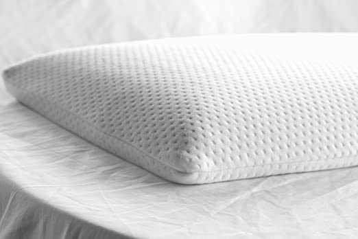 Elite Rest Ultra Slim Sleeper Firm Memory Foam Pillow, Premium Cotton Cover, Great for Back and Stomach Sleepers, Hypoallergenic Ultra Thin Low