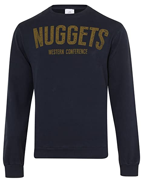 adidas NBA Uomo Basketball Felpa - Denver Nuggets 74a462a1d662
