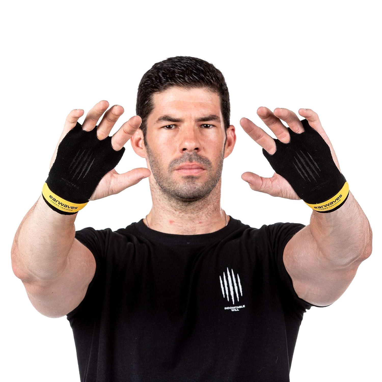 Earwaves - Calleras CrossFit para hombre y mujer. Guantes CrossFit, Calistenia, Halterofilia, Dominadas, Gimnasia, etc. Maxima protección con agarre superior.