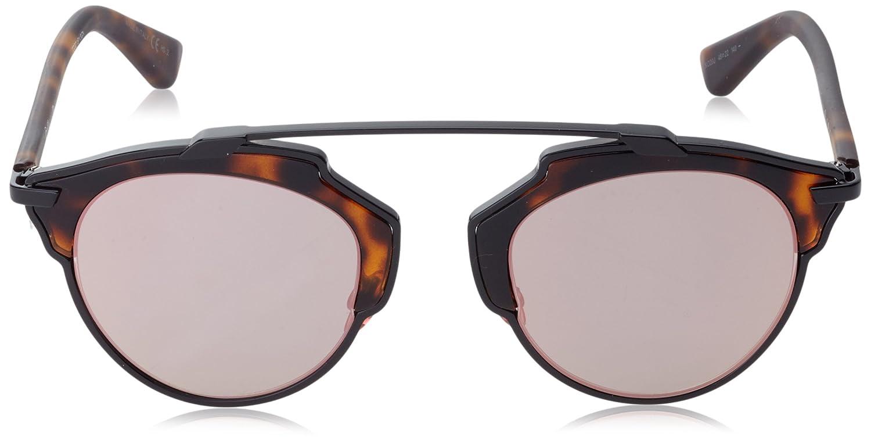 e2572503092 Amazon.com  Christian Dior So Real Col. XO20J Havana-Matt Havana  Mirror  lenses new  Clothing