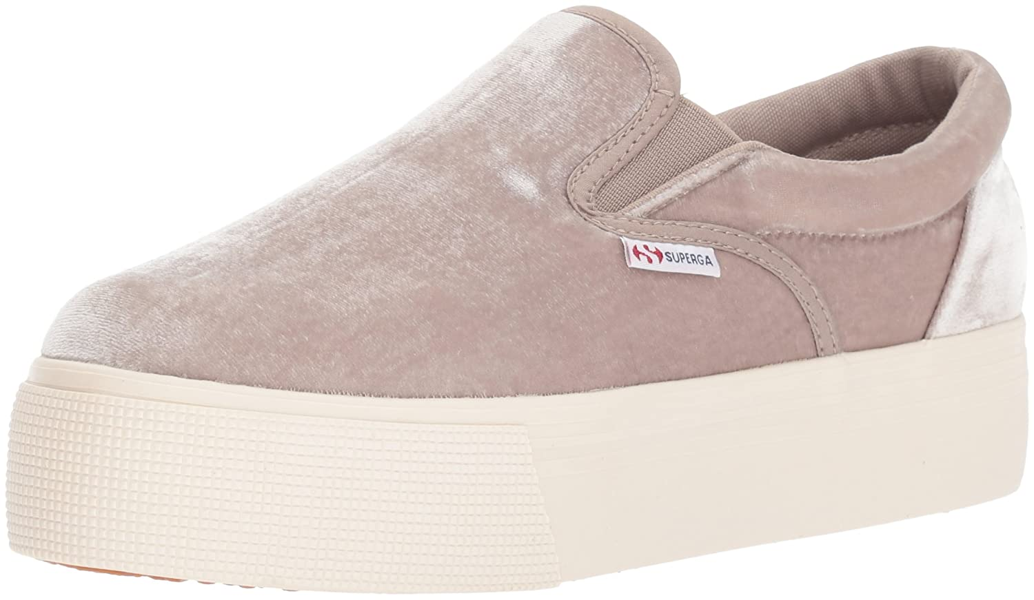 Superga Women's 2314 Velvetjpw Fashion Sneaker B072M5FY42 41.5 M EU / 10 B(M) US|Grey Velvet