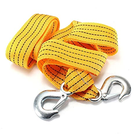 Tow Strap Rope Hooks 6,000lb Towing Recovery 2 Inch X 10 Ft Heavy Duty
