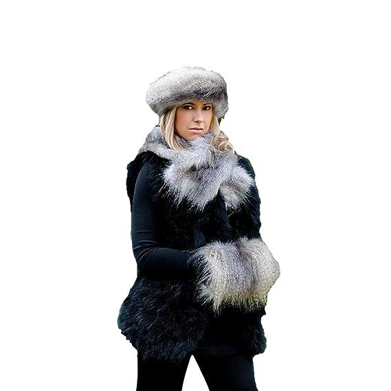 d4dbf0292 Faux Fur Set - Headband, Muff & Ruffle Scarf - Grey Wolf: Amazon.co ...