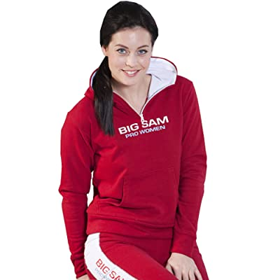 BIG SAM SPORTSWEAR COMPANY Women's Sweater Sweatshirt Hoodie4607 red