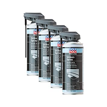 4x Liqui Moly Pro-Line 7389 Silicone Spray 400 ml rubber and