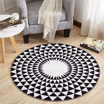TRNMC Schwarz und weiß Geometrische Teppich, Wohnzimmer und ...