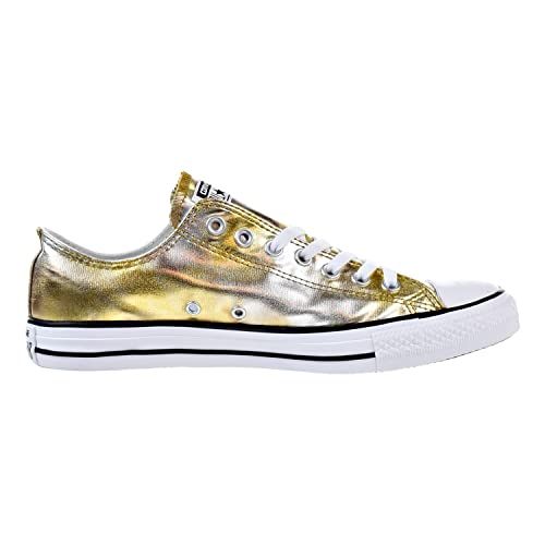 961598bbf9bc45 Converse All Star LO TOP Washed Metallic Silver Gold Size 4  Buy Online at Low  Prices in India - Amazon.in