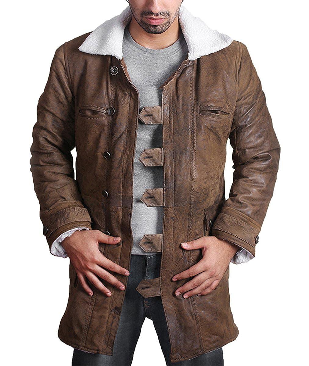 Bane Coat 'Tom Hardy - Dark Knight Rises' Vintage Distressed Look Leather Jacket us-banecr-p