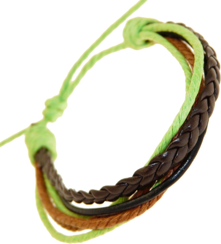 Cuero y cordón de la pulsera / muñequera de cuero / pulsera de surf -03