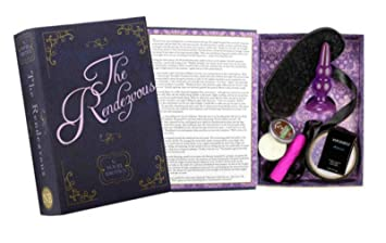 The Rendezvous Novel Erotic Lovers Sex Kit Vibrator Bondage Tape Blindfold Massage Candle