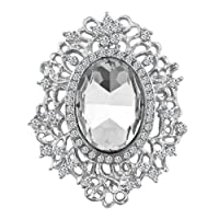 Charmed Craft Vintage Women Brooches Jewelry Multicolor Crystal Victorian Cameo Brooch Pin Gifts