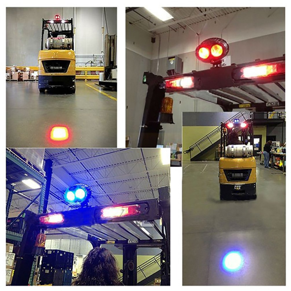Fuguang LED Forklift Safety Light Blue Spot Light, Warehouse Safe Warning Light 8W Led CREE Chip 10V-100V Wide Voltage,250LM by Fuguang (Image #5)