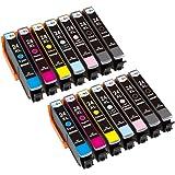 LxTek Compatibile Cartucce d'inchiostro Epson 24 XL (4 Nero, 2 Ciano, 2 Magenta, 2 Giallo, 2 Ciano Chiaro, 2 Magenta Chiaro) per Epson Expression Photo XP-55 XP-750 XP-760 XP-850 XP-860 XP-950 XP-960 Stampante