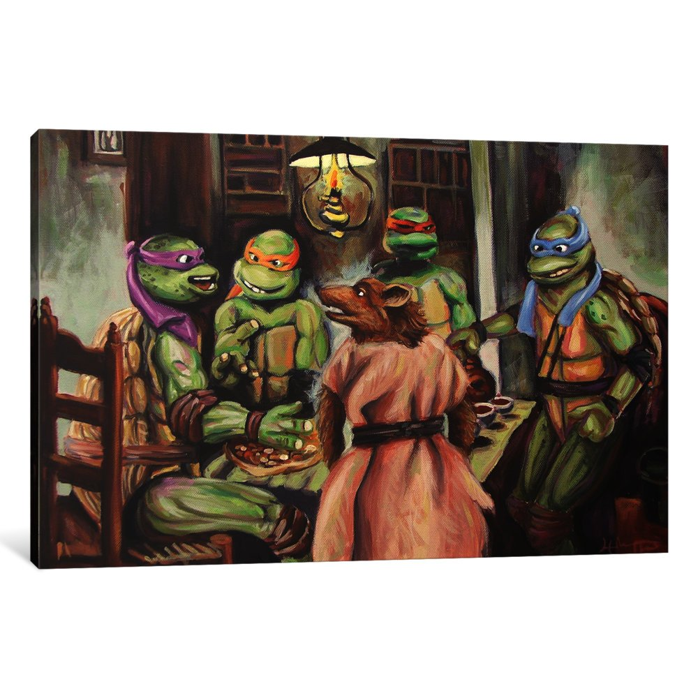 Amazon.com: iCanvasART 1-Piece The Pizza Eaters Canvas Print ...