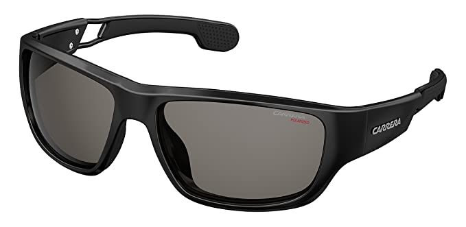 5139e5124ee Image Unavailable. Image not available for. Color  Carrera 4008 s Polarized  Rectangular Sunglasses BLACK ...