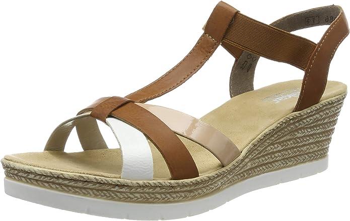 Sandalen Rieker 69792 14 Schuhe Damen Sandalen Kleidung