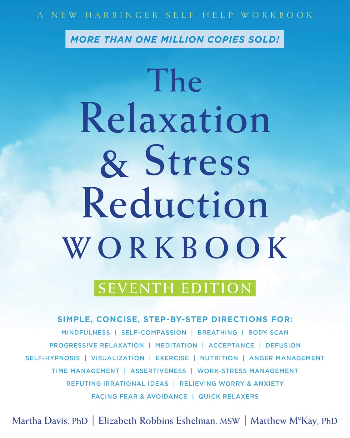 Relaxation Reduction Workbook Harbinger Self Help product image