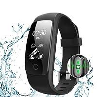 Bracelet Sport Activité Avec GPS, Macrourt Montre Connectée Etanche IP67 Fitness Tracker d'Activité Bluetooth avec Cardiofréquencemètres, Podomètre, Distance, Calorie, Notification Appel SMS