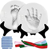 Luna Bean Deluxe Baby Handprint and Footprint Kit - Clay Baby Casting Kit - Gifts & Baby Keepsake Products for New Moms - Ink